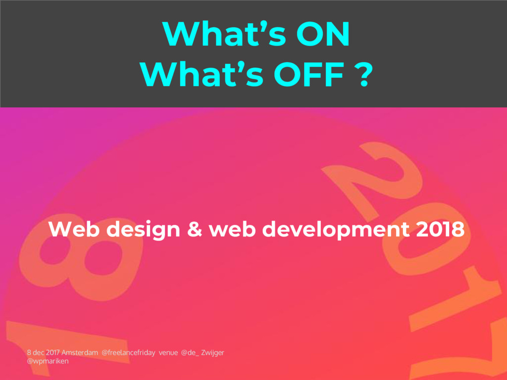 What's ON What's OFF ? Web design & web develop...