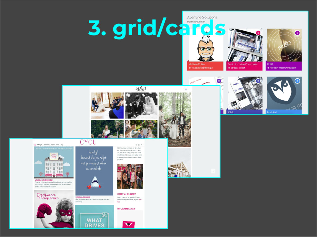 3. grid/cards
