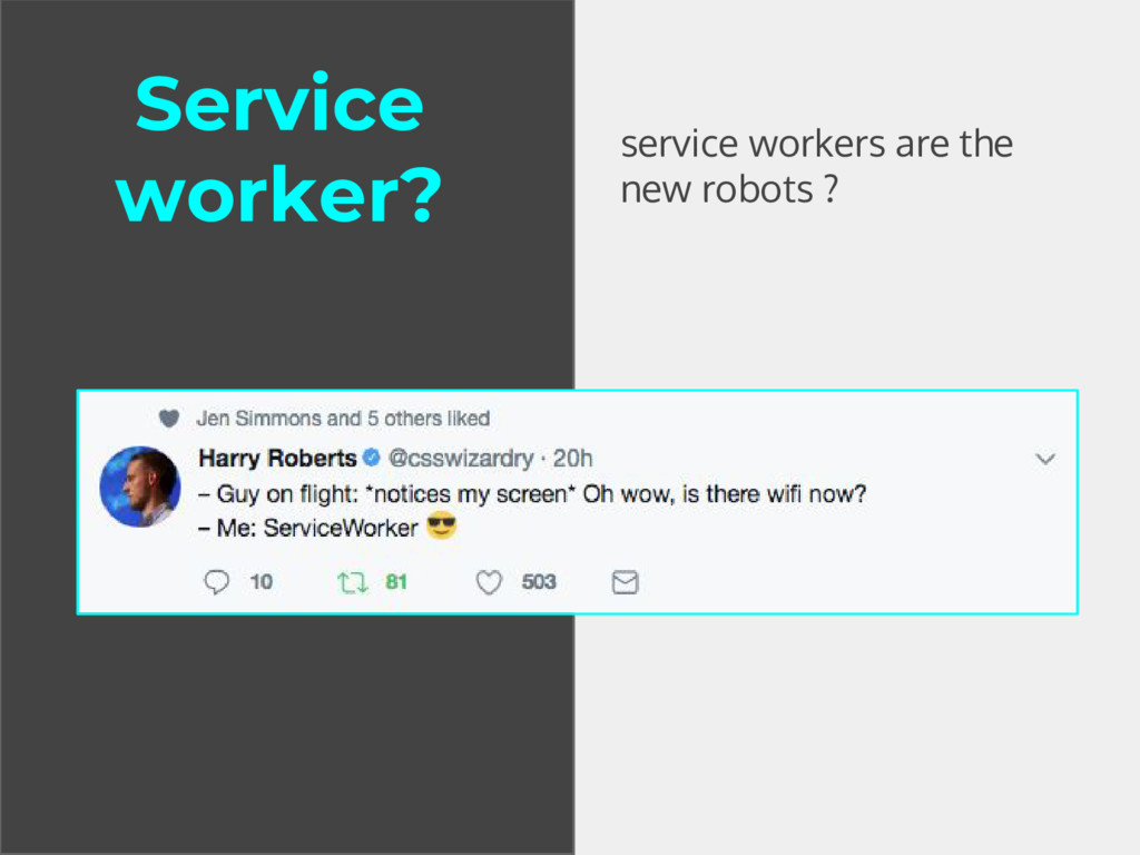 service workers are the new robots ? Service wo...
