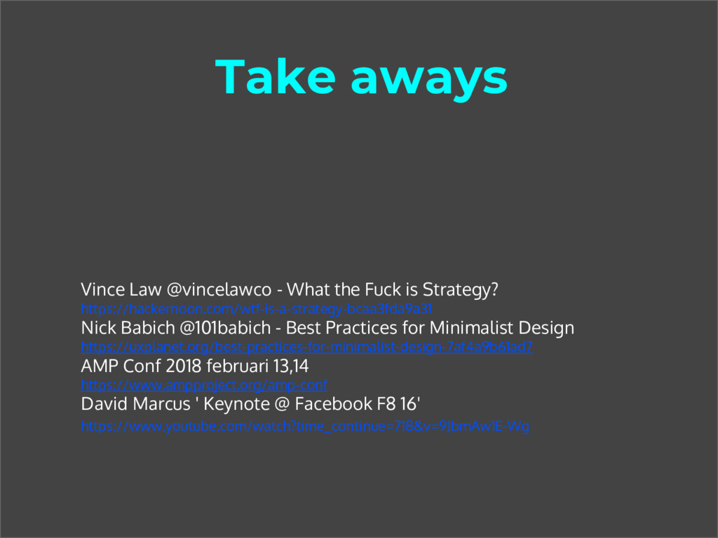 Take aways Vince Law @vincelawco - What the Fuc...
