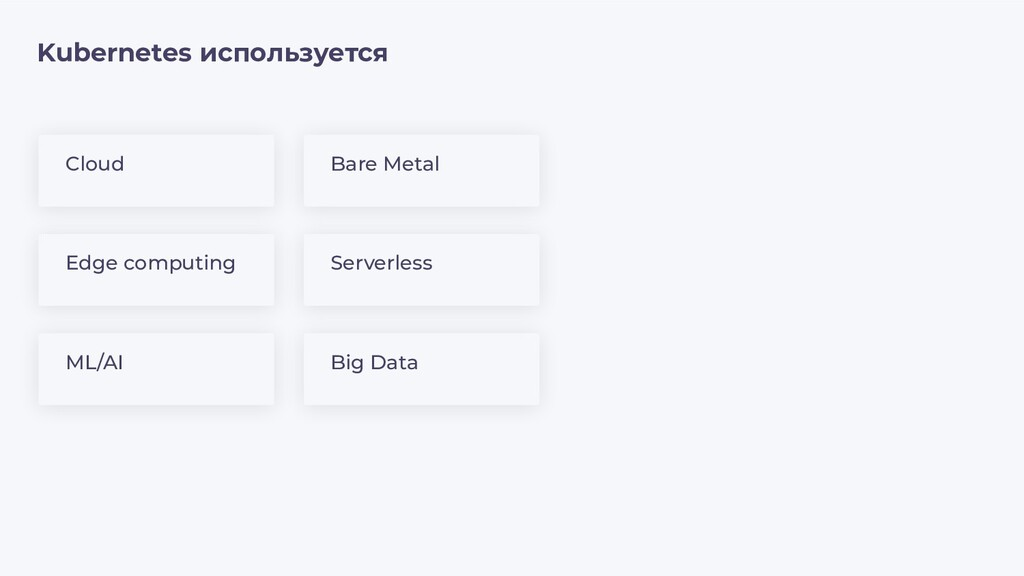 Kubernetes используется Edge computing Serverle...