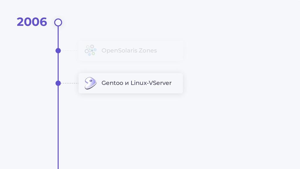 OpenSolaris Zones Gentoo и Linux-VServer 2006