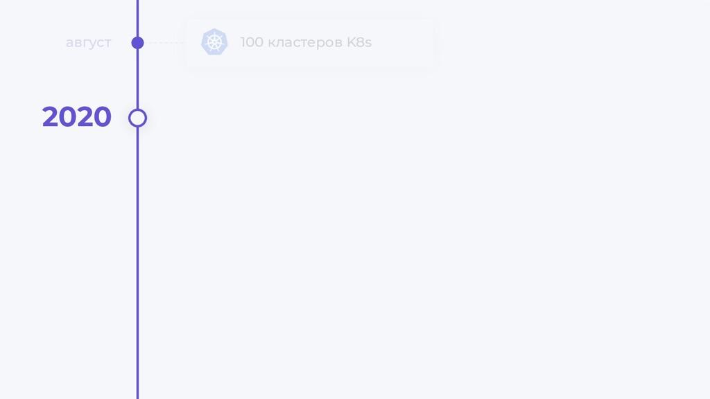 100 кластеров K8s август 2020