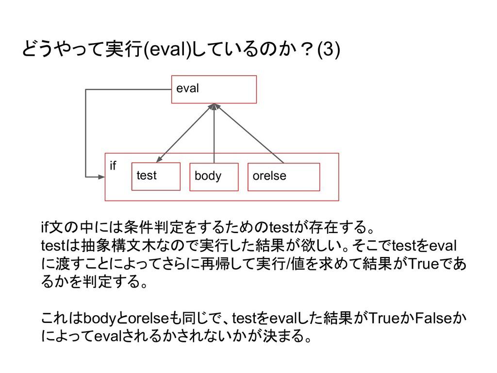 どうやって実行(eval)しているのか?(3) eval if test body orels...