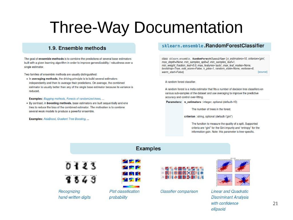 21 Three-Way Documentation