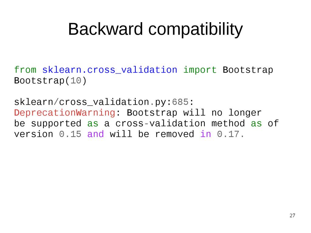 27 Backward compatibility from sklearn.cross_va...
