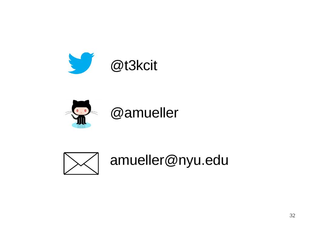 32 @t3kcit @amueller amueller@nyu.edu