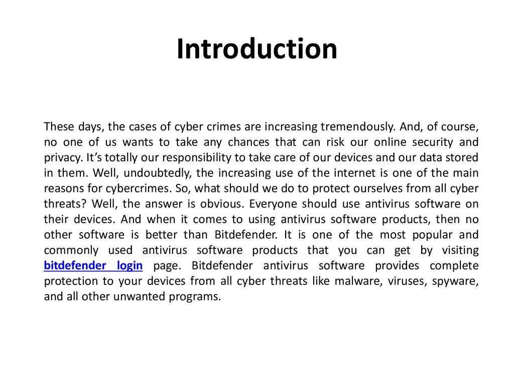 Introduction These days, the cases of cyber cri...