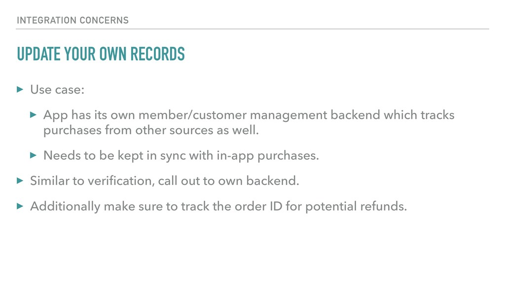 UPDATE YOUR OWN RECORDS ▸ Use case: ▸ App has i...