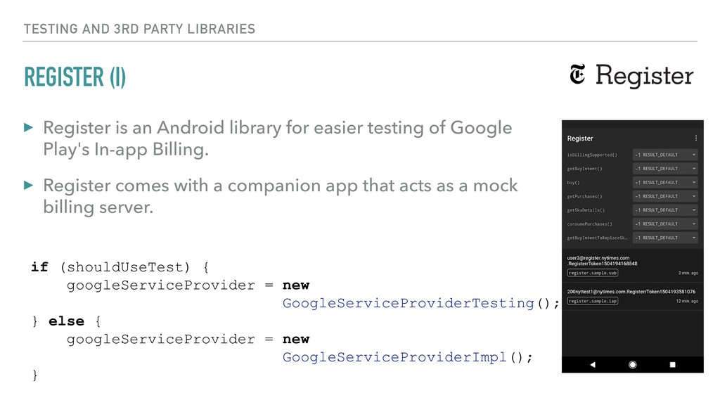 REGISTER (I) ▸ Register is an Android library f...