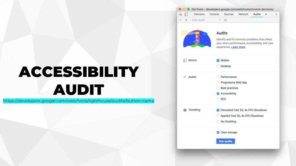 ACCESSIBILITY AUDIT https://developers.google.c...