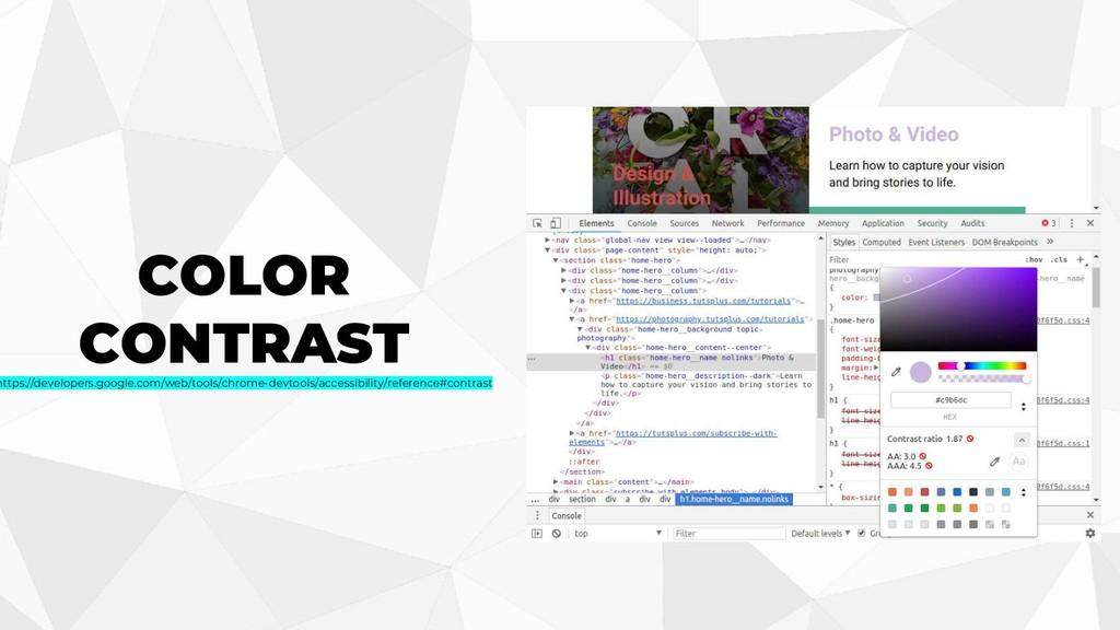 COLOR CONTRAST https://developers.google.com/we...
