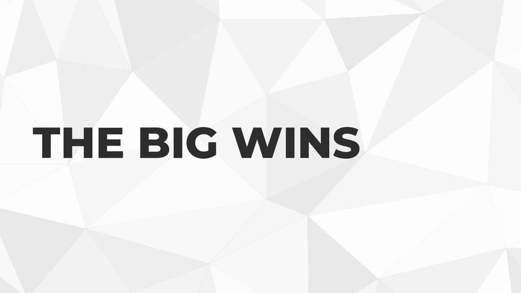 THE BIG WINS