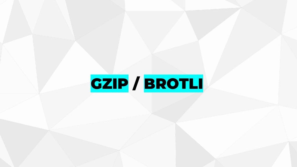 GZIP / BROTLI