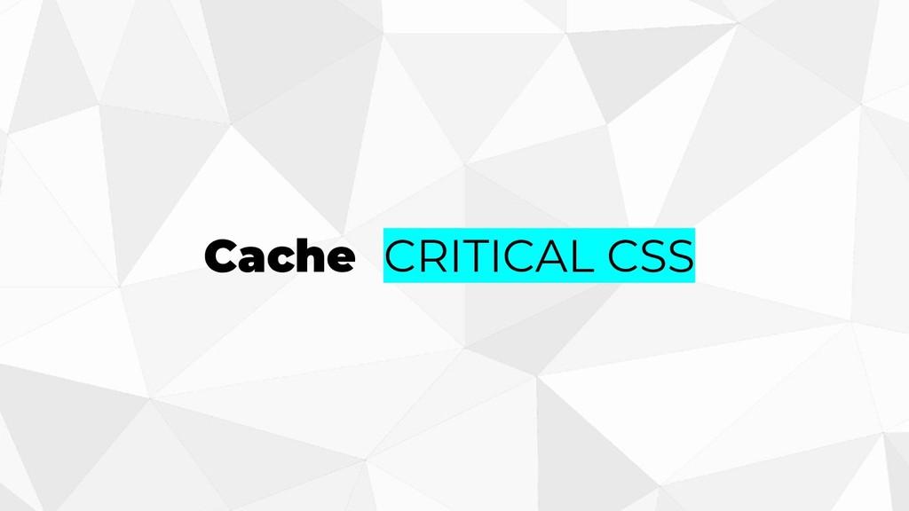 Cache CRITICAL CSS