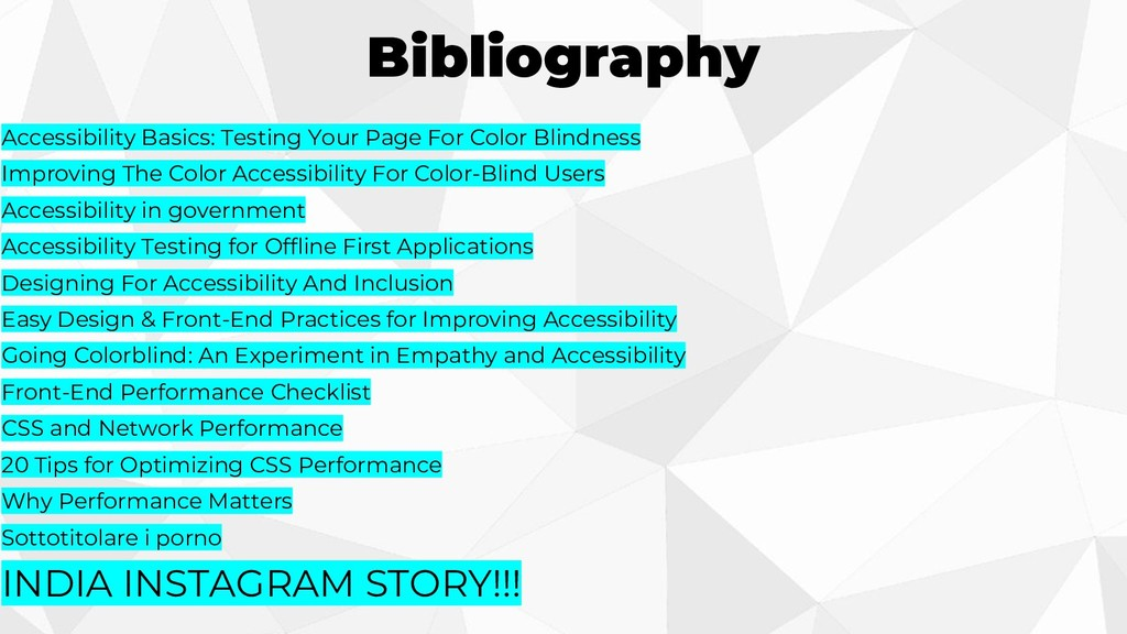 Bibliography Accessibility Basics: Testing Your...