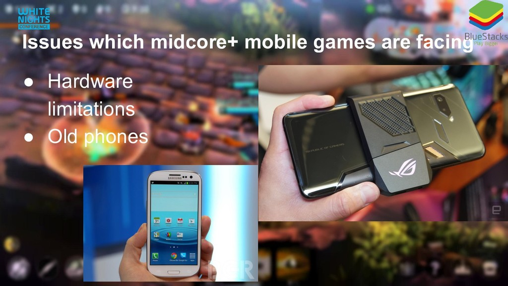 Issues which midcore+ mobile games are facing ●...