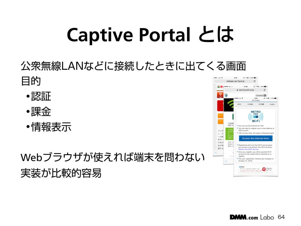 "Captive Portalͱ ެऺແઢ-""/ͳͲʹଓͨ͠ͱ͖ʹग़ͯ͘Δը໘ త ..."
