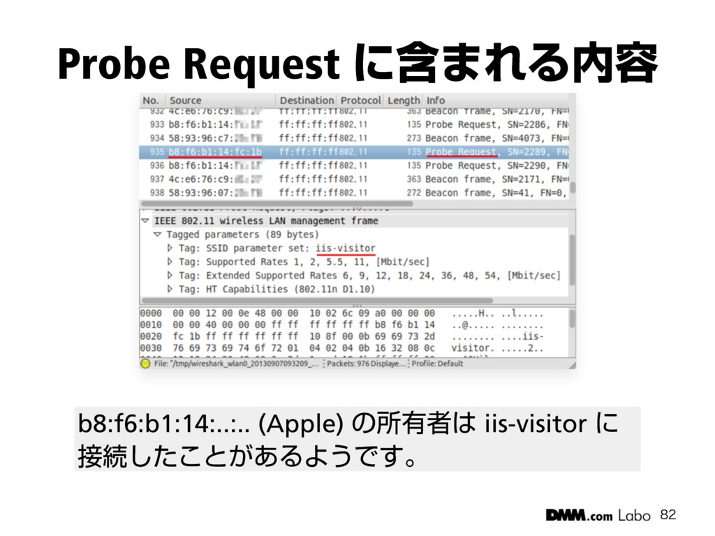 Probe Request ʹؚ·ΕΔ༰  b8:f6:b1:14:..:.. (App...