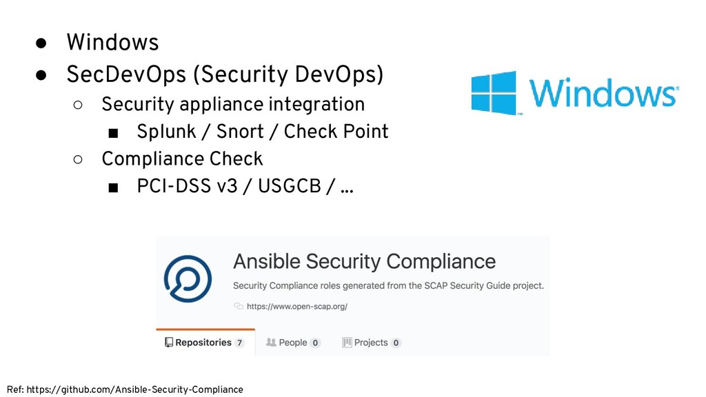 ● Windows ● SecDevOps (Security DevOps) ○ Secur...
