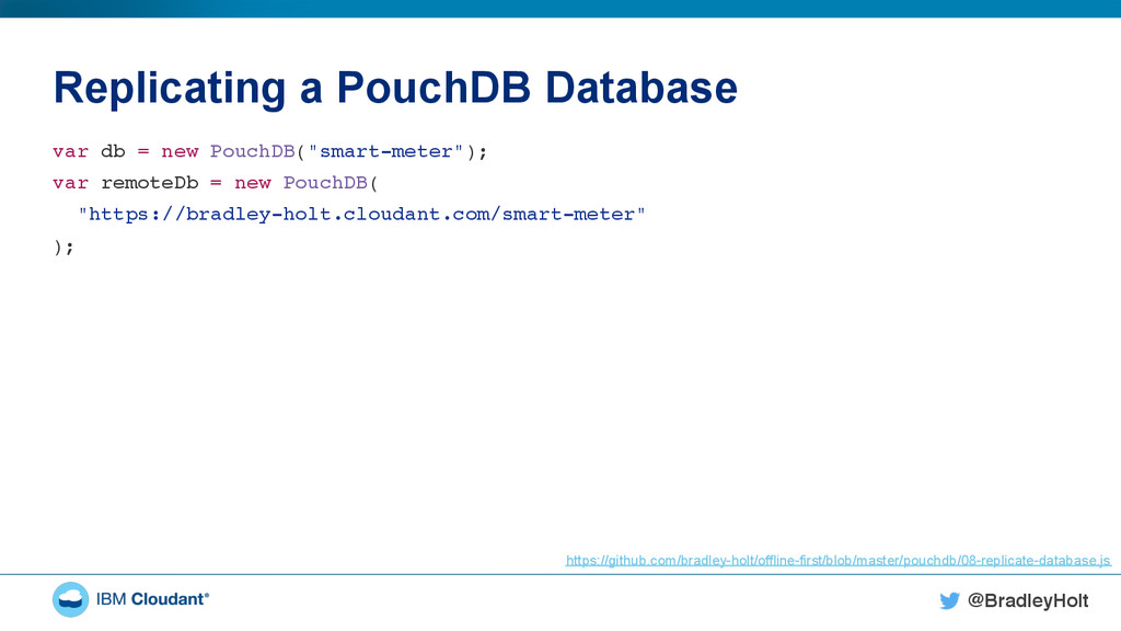 @BradleyHolt! Replicating a PouchDB Database va...