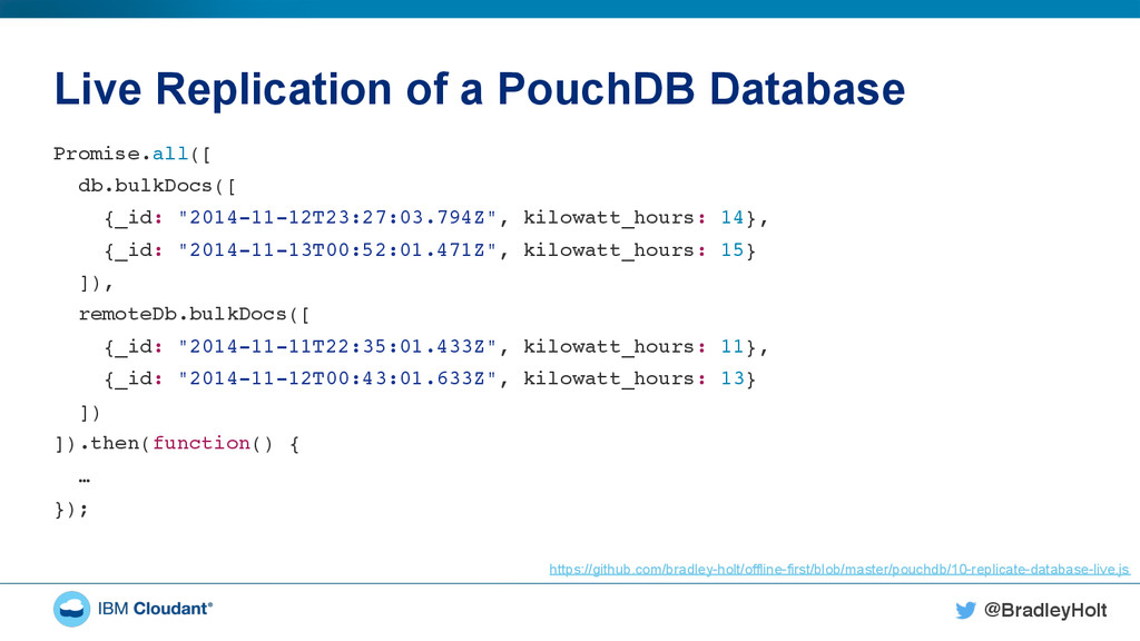 @BradleyHolt! Live Replication of a PouchDB Dat...