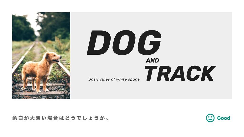 余白が大きい場合はどうでしょうか。 Good TRACK DOG Basic rules of...