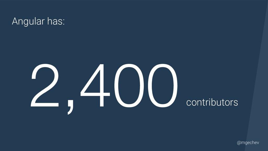 @yourtwitter @mgechev Angular has: 2,400 contri...