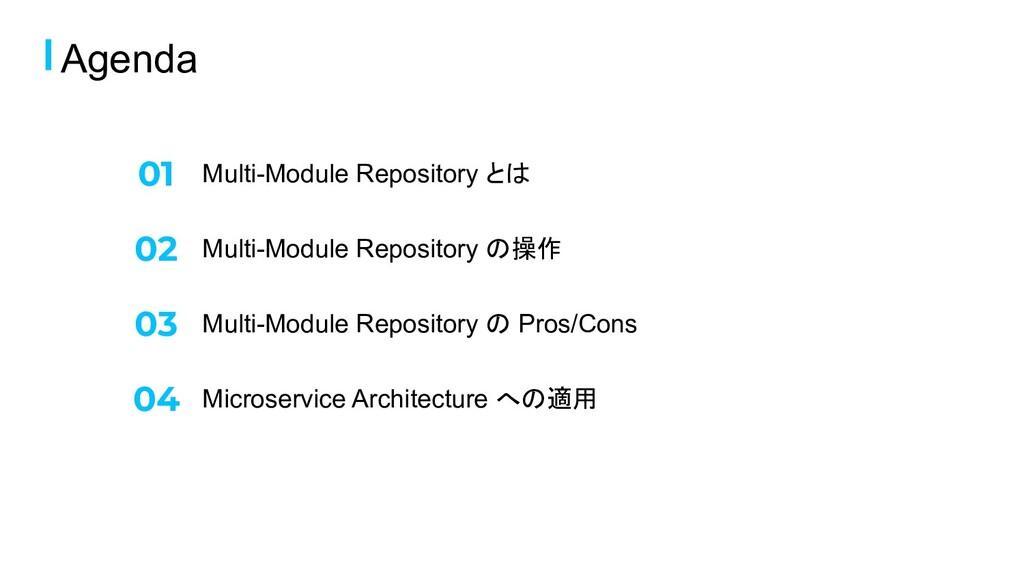 Multi-Module Repository とは Agenda Multi-Module ...