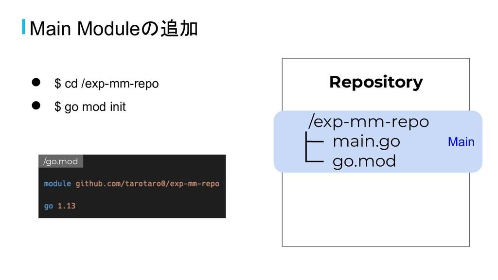 Main Repository /exp-mm-repo ├─ main.go └─ go.m...