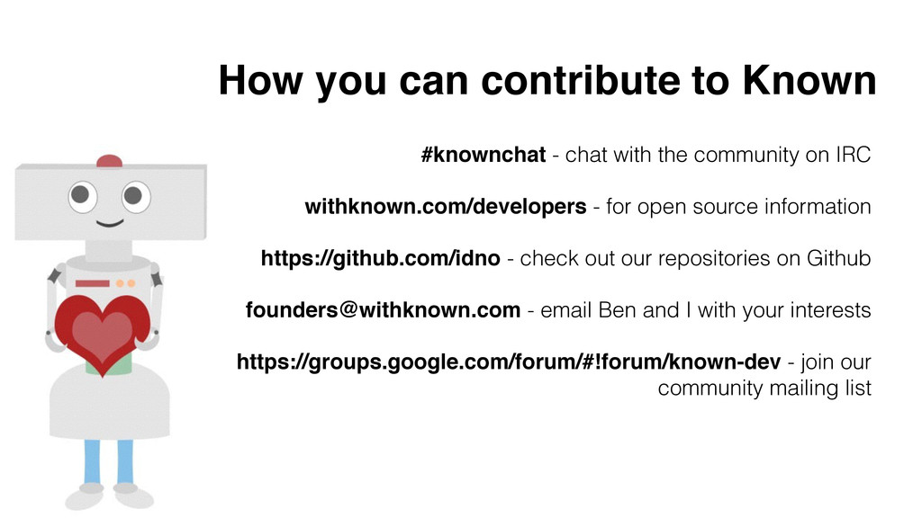 How you can contribute to Known #knownchat - ch...