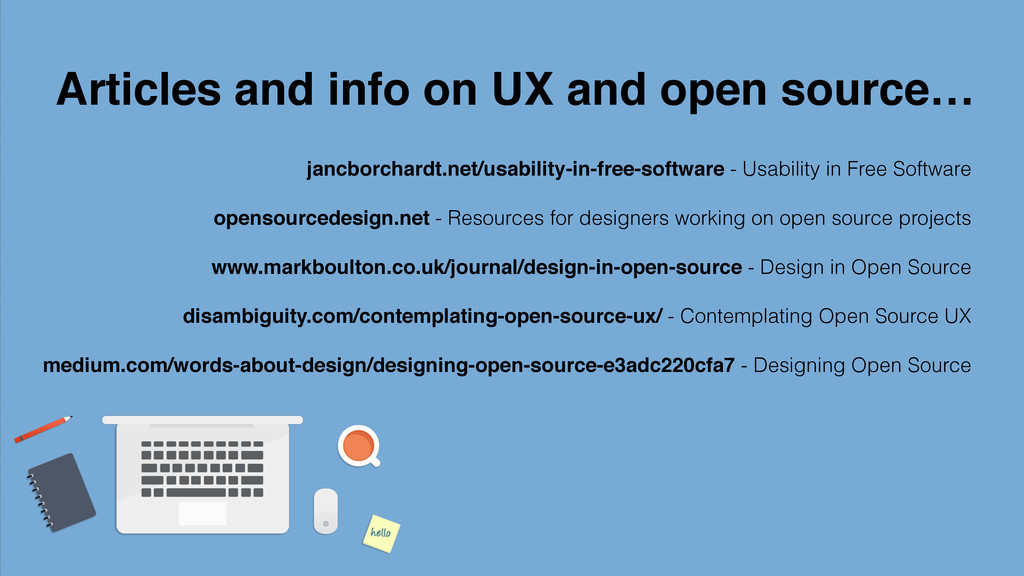 Articles and info on UX and open source… jancbo...