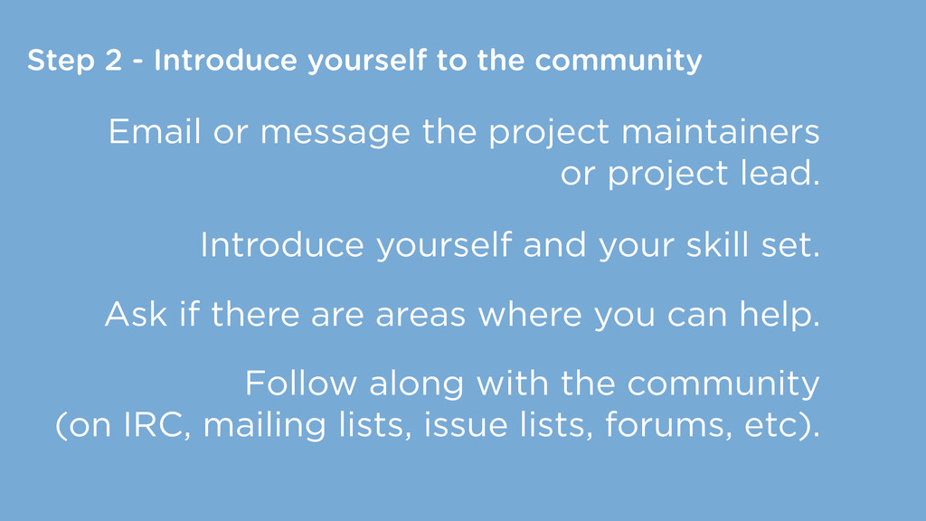 Step 2 - Introduce yourself to the community Em...