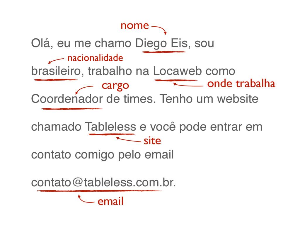 Olá, eu me chamo Diego Eis, sou brasileiro, tra...