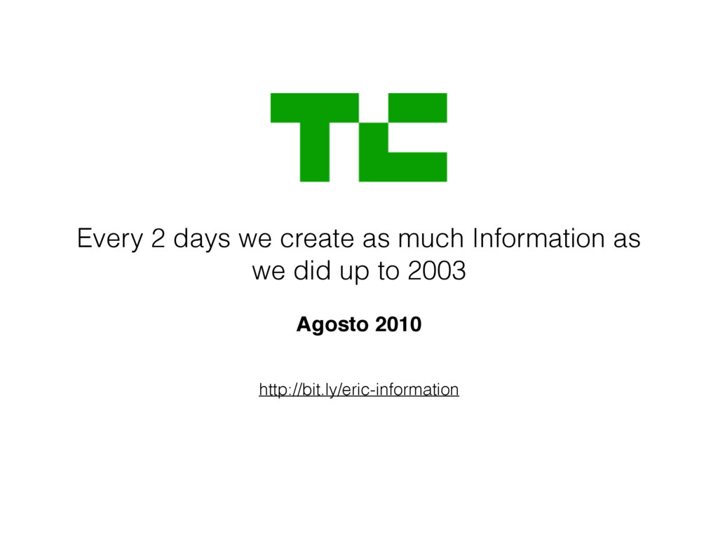 http://bit.ly/eric-information Every 2 days we ...
