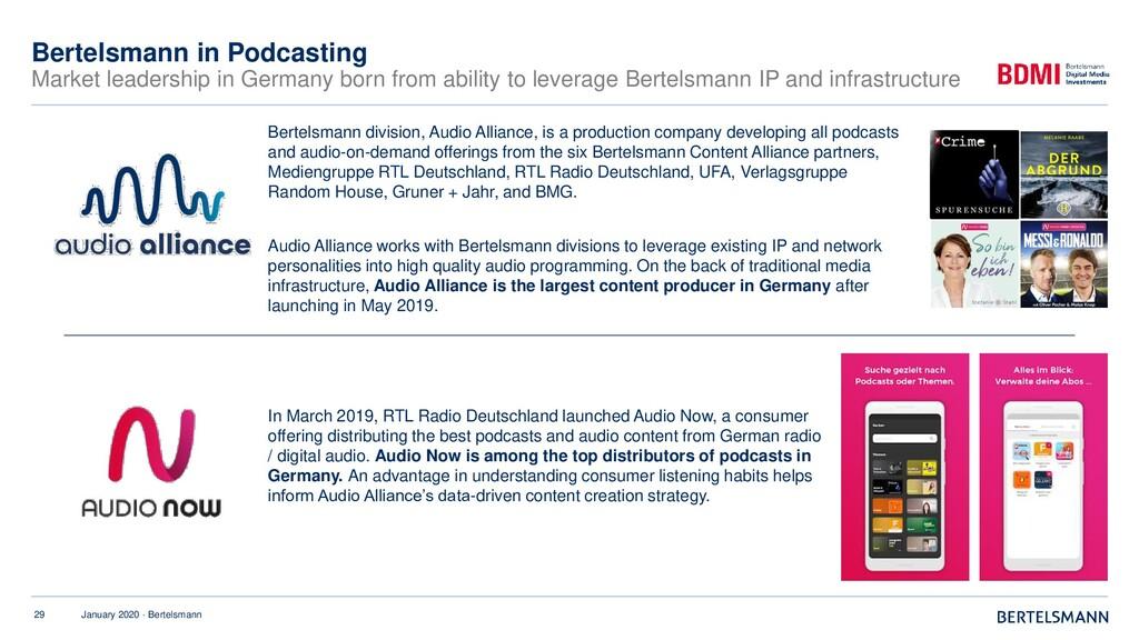 29 January 2020 · Bertelsmann Bertelsmann in Po...