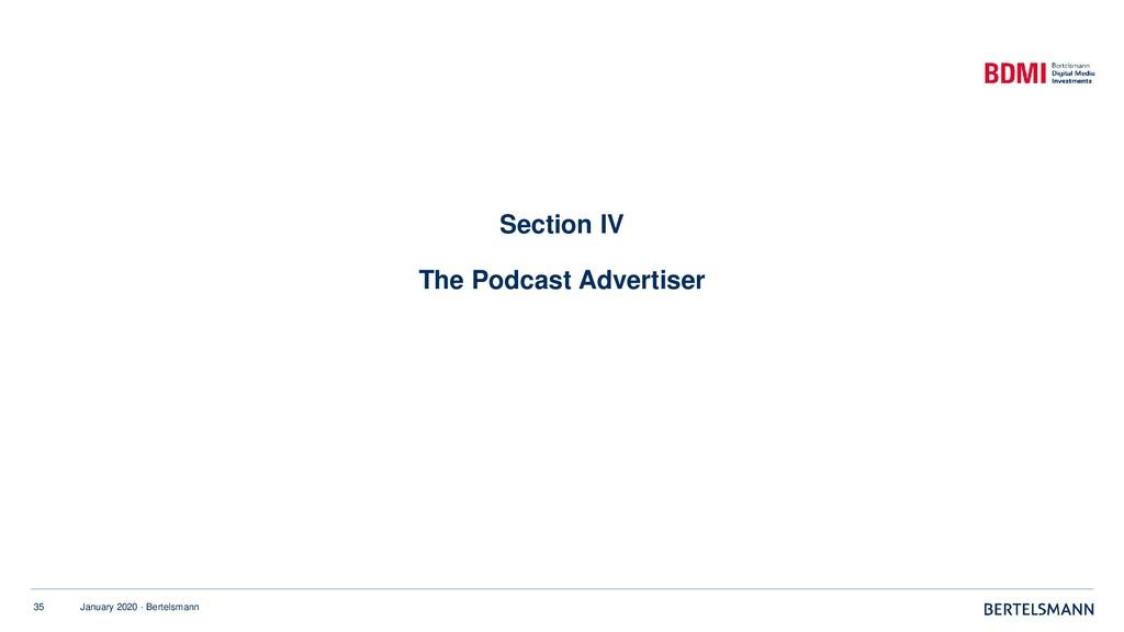 35 January 2020 · Bertelsmann Section IV The Po...