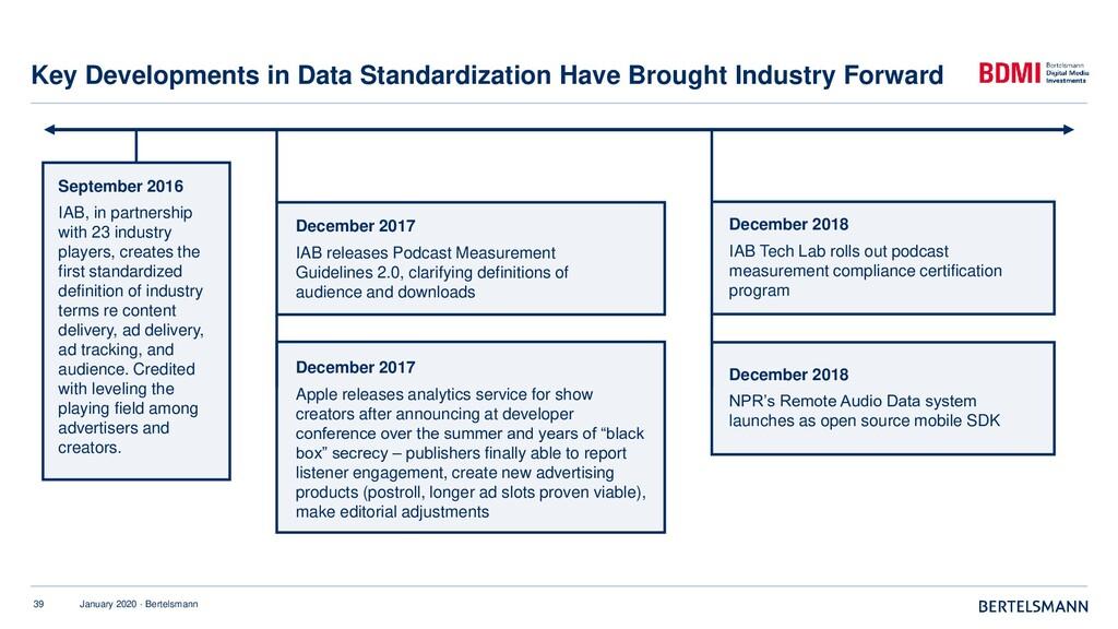 39 January 2020 · Bertelsmann Key Developments ...