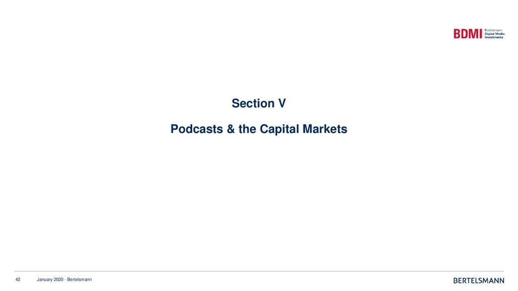 42 January 2020 · Bertelsmann Section V Podcast...
