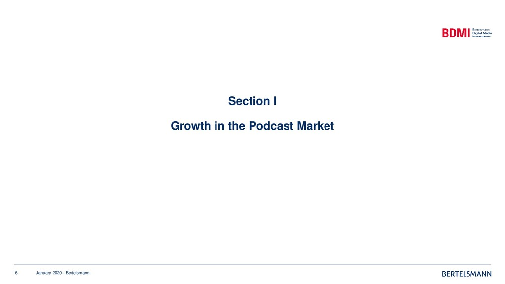 6 January 2020 · Bertelsmann Section I Growth i...