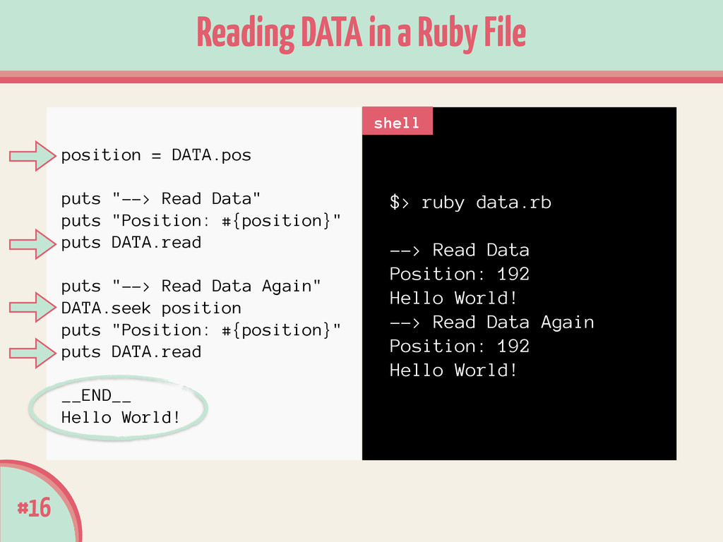 $> ruby data.rb ! --> Read Data Position: 192 H...