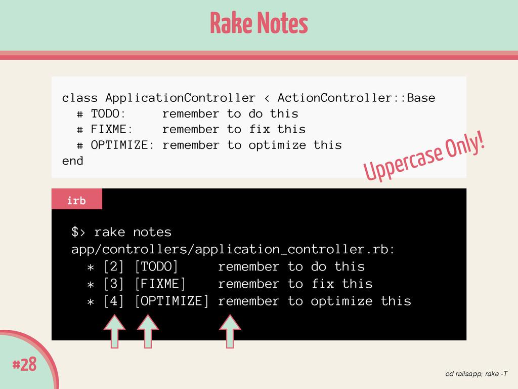 Rake Notes #28 $> rake notes app/controllers/ap...