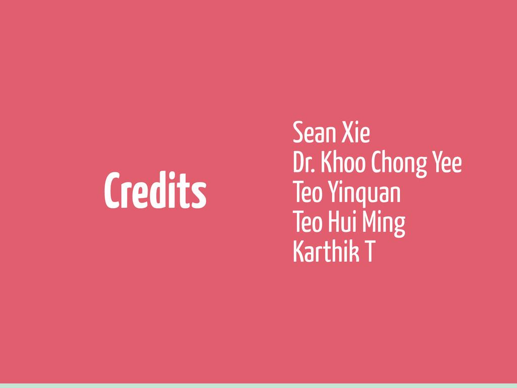 Sean Xie Dr. Khoo Chong Yee Teo Yinquan Teo Hui...