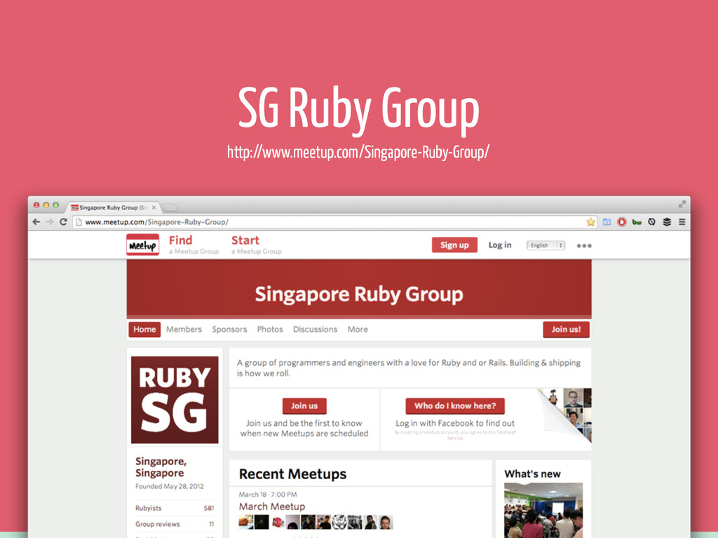 SG Ruby Group http://www.meetup.com/Singapore-R...