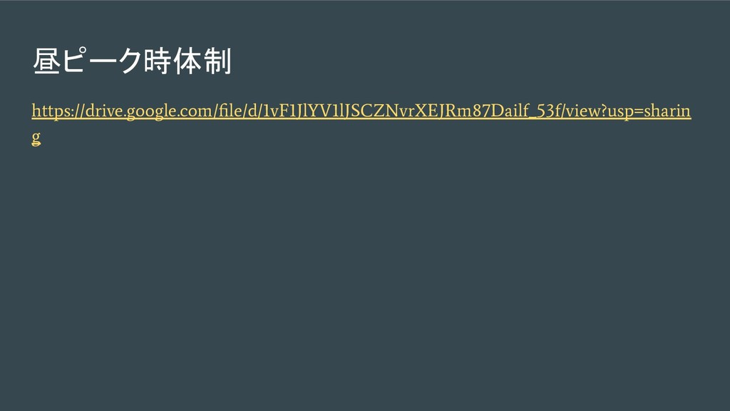 昼ピーク時体制 https://drive.google.com/file/d/1vF1JlYV...