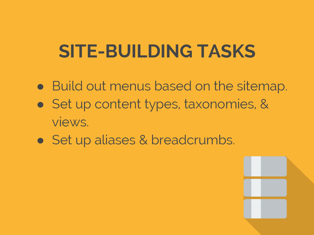 ● Build out menus based on the sitemap. ● Set u...