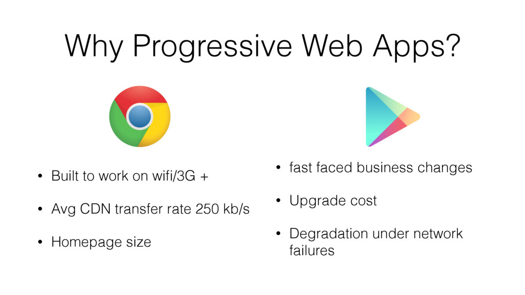 Why Progressive Web Apps? • Built to work on wi...