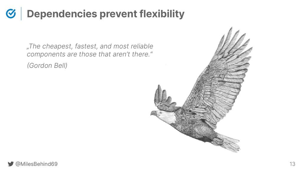 @ MilesBehind69 13 Dependencies prevent flexibi...