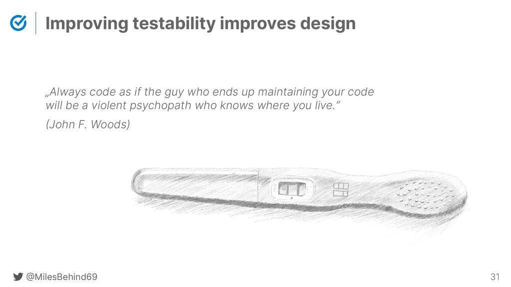 @ MilesBehind69 31 Improving testability improv...