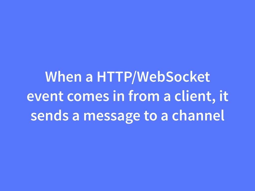 When a HTTP/WebSocket event comes in from a cli...